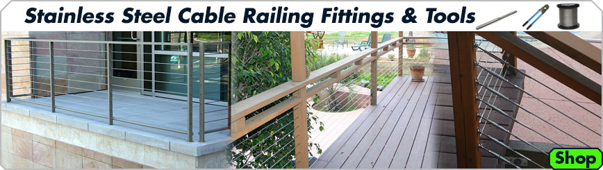 E-Rigging Cable Railing Componets