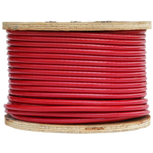 Gloss Opaque Red Vinyl Coated Cable