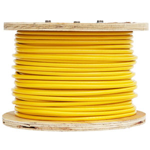 Gloss Opaque Yellow Vinyl Coated Cable