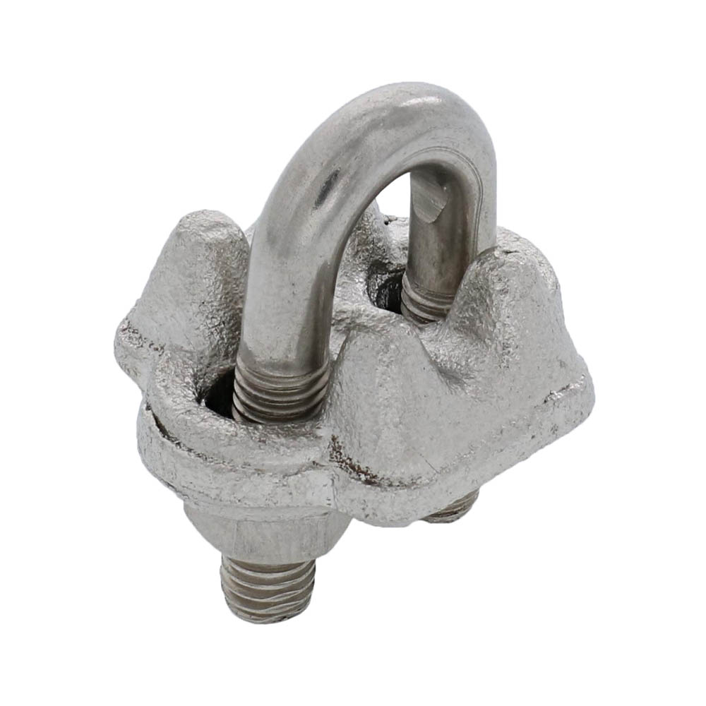 "1/8"" Grade 316, Stainless Steel Drop Forged Wire Rope Clip Image 1"