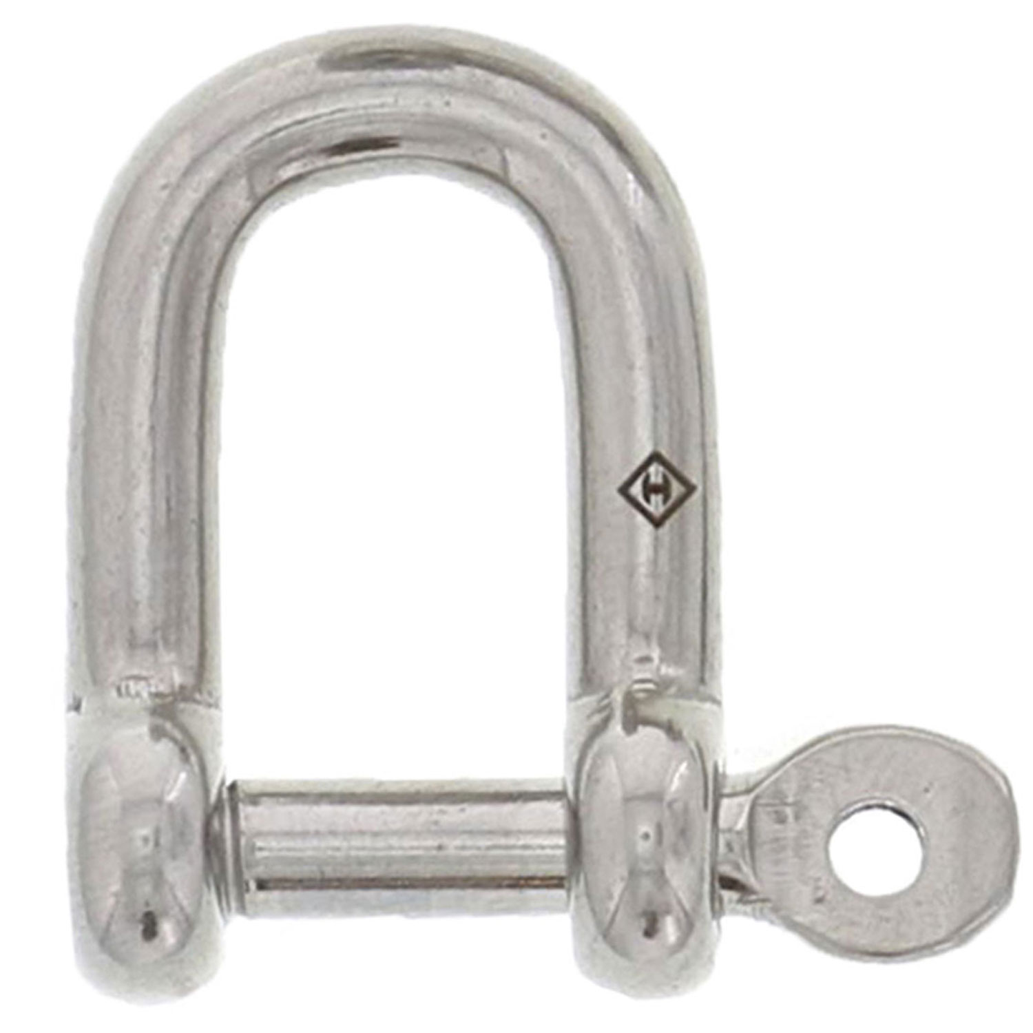 "3/16"" Stainless Steel Captive Pin D Shackle Image 1"