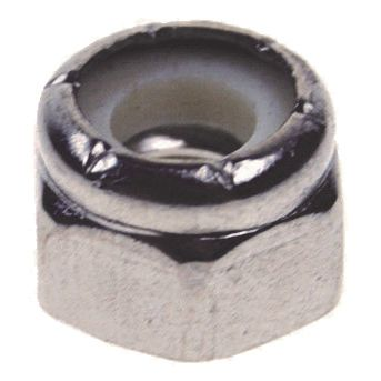 "1/4"" - 20 TPI, Grade 316, Stainless Steel Lock Nut Image 1"