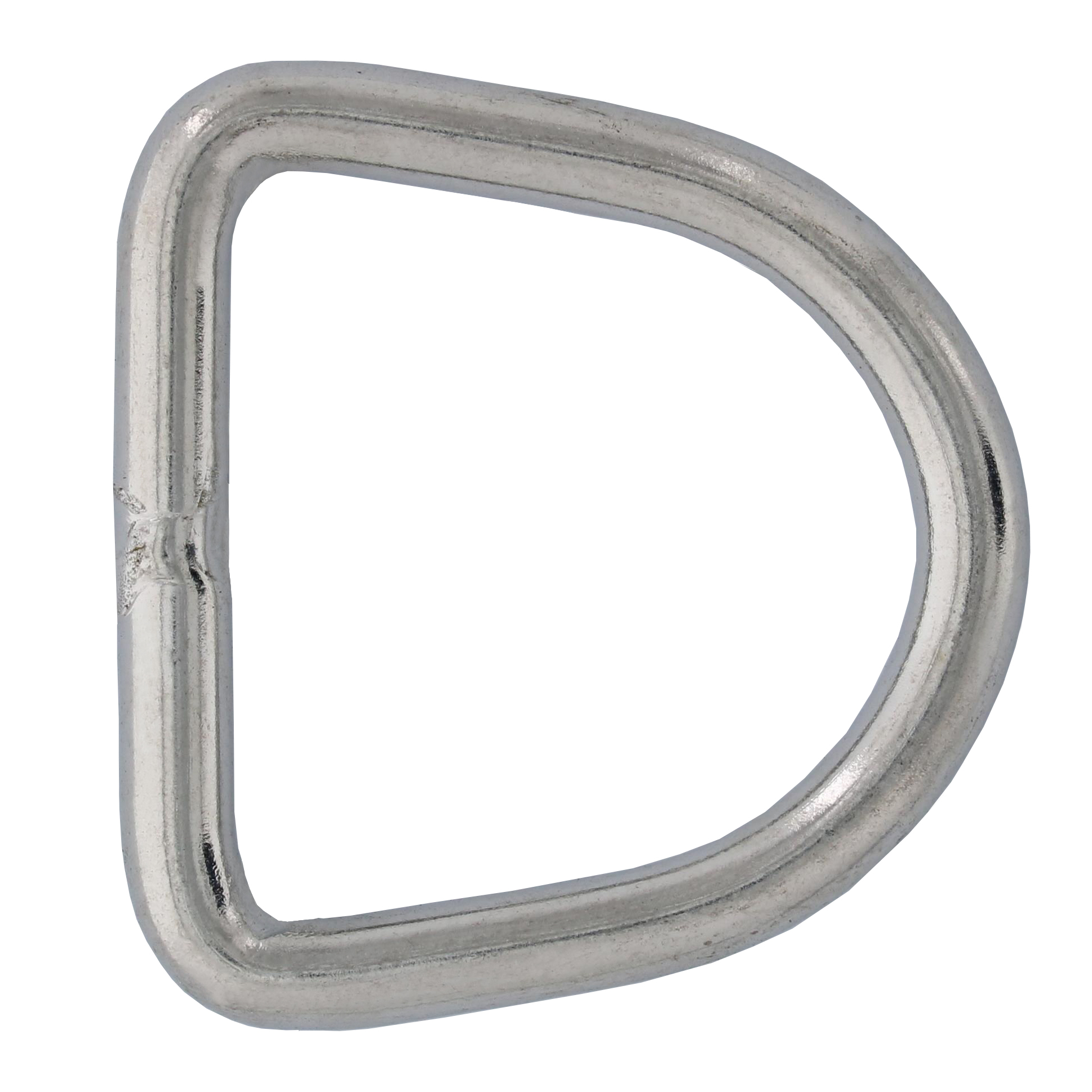 "1/4"" x 1-9/16"" Stainless Steel D Ring Image 1"