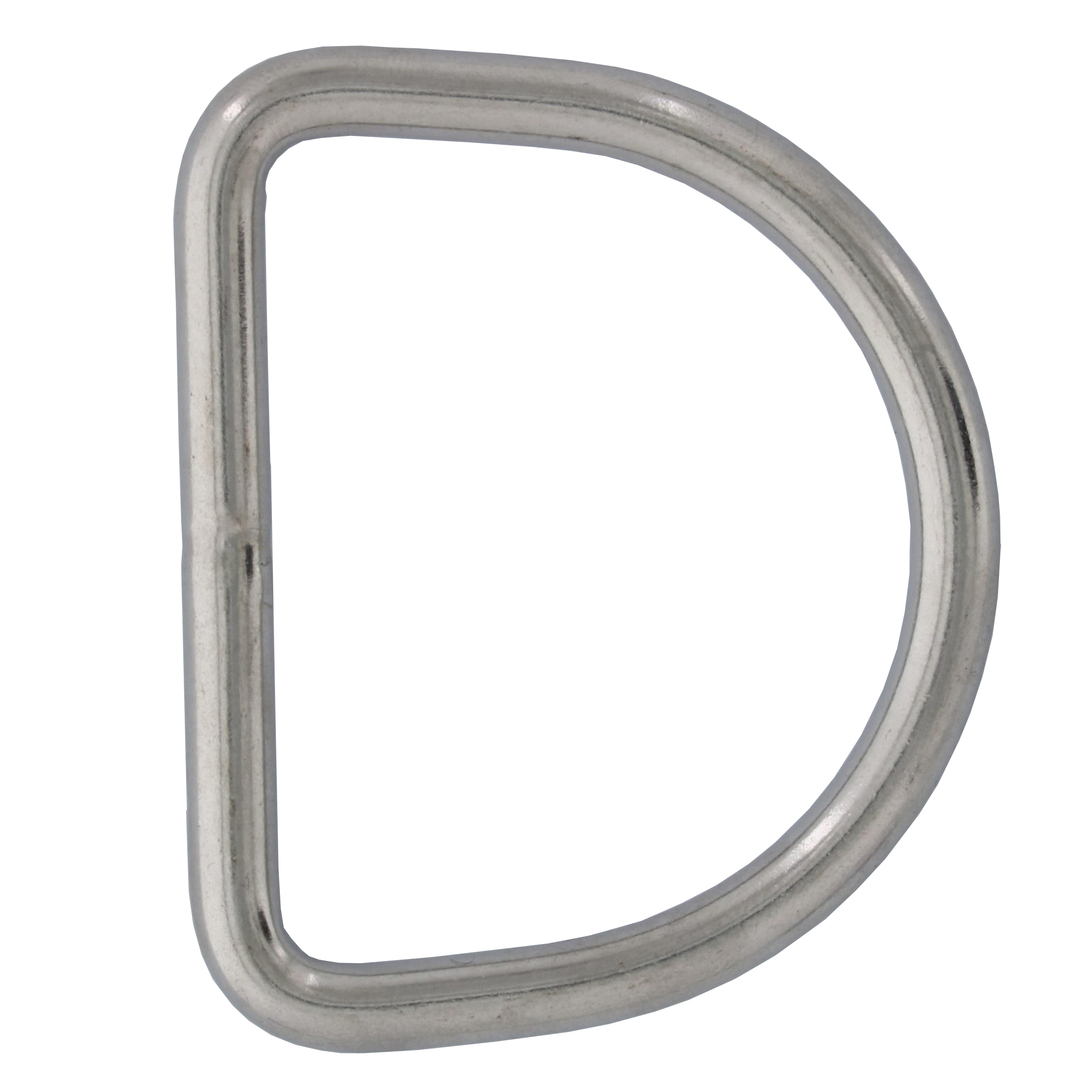 "1/4"" x 2-3/16"" Stainless Steel D Ring Image 1"