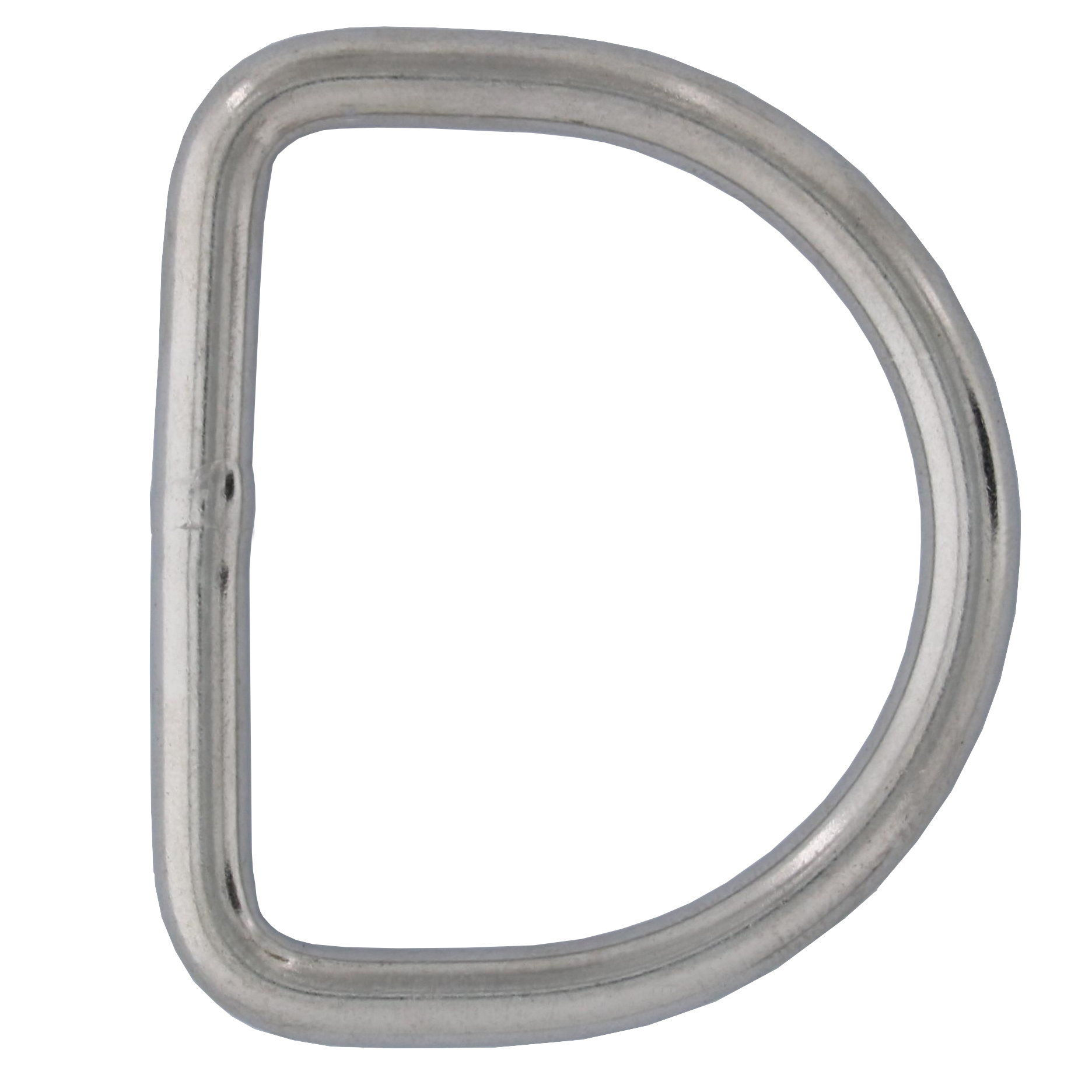 "3/16"" x 1-9/16"" Stainless Steel D Ring Image 1"