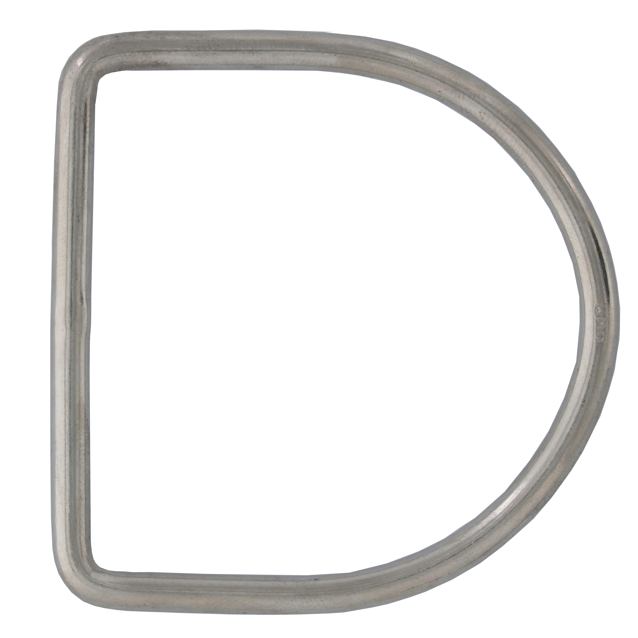 "3/16"" x 2-3/8"" Stainless Steel D Ring Image 1"
