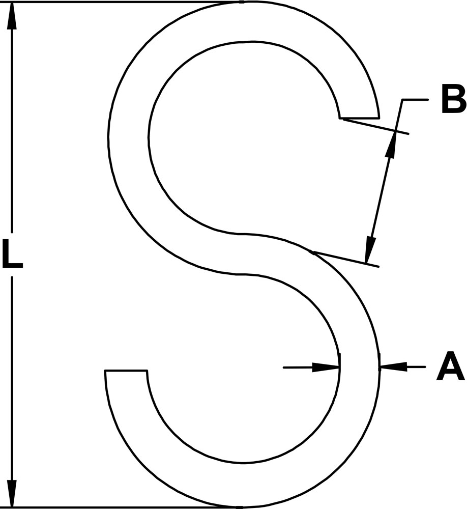 five-sixteenths-inch-x-two-and-three-quarters-inch-stainless-s-hook-specification-diagram