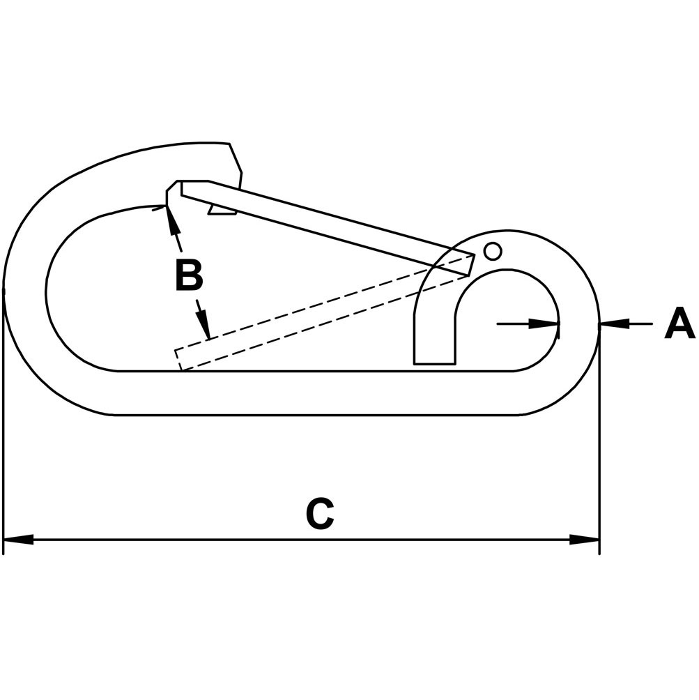 half-inch-stainless-harnestainless-style-snap-link-specification-diagram