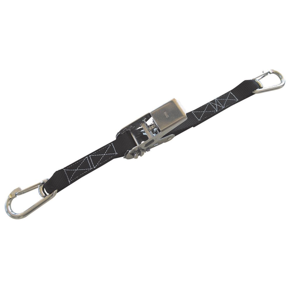 1 Quot X 5 Stainless Steel Ratchet Strap With Spring Clip