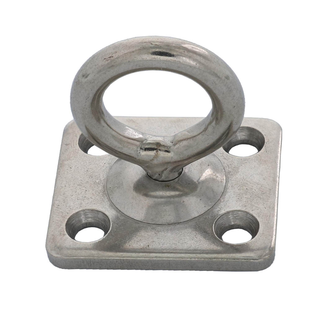"1/4"" Stainless Steel Pad Eye Square Swivel Image 1"