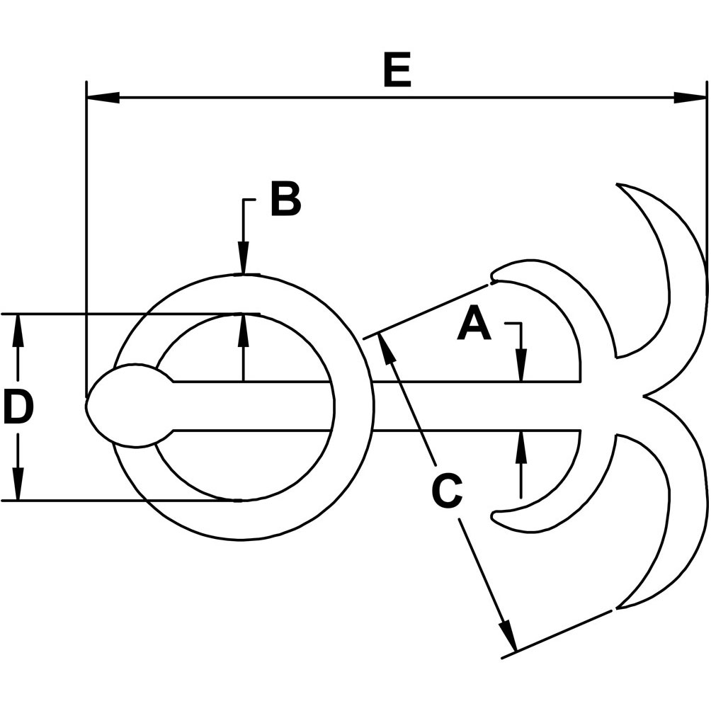Stainless Steel Anchor, Grade 304 Diagram