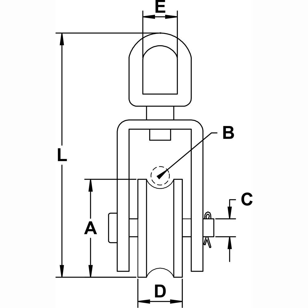 three-quarter-inch-x-four-inch-stainless-steel-swivel-eye-square-block-specification-diagram
