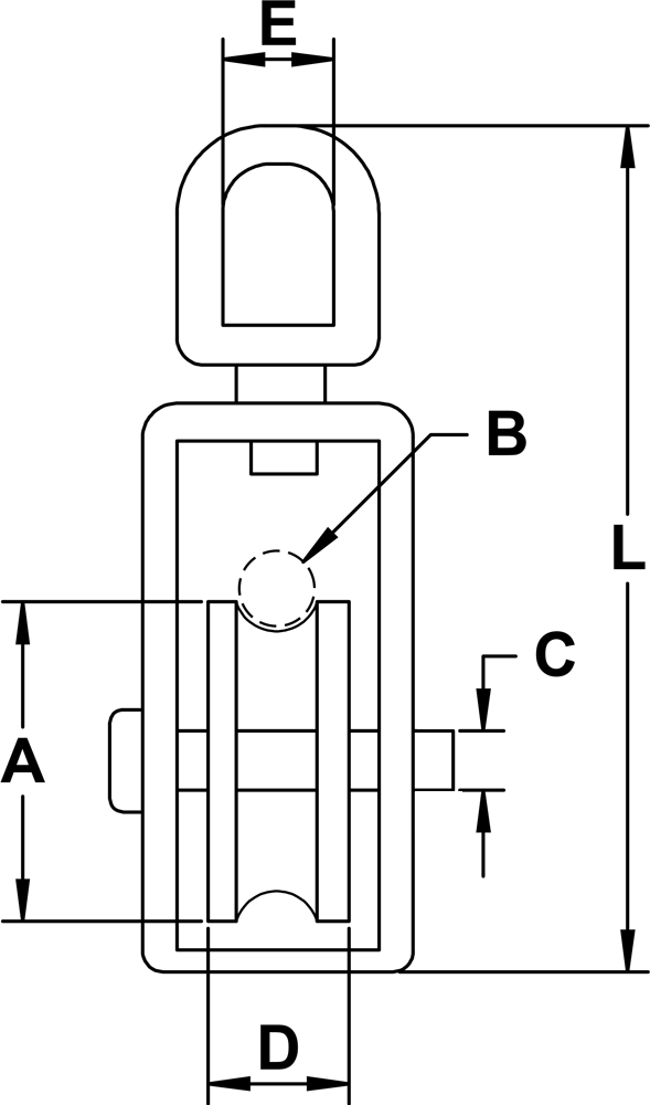 three-eighths-inch-x-two-inch-stainless-steel-swivel-eye-block-specification-diagram