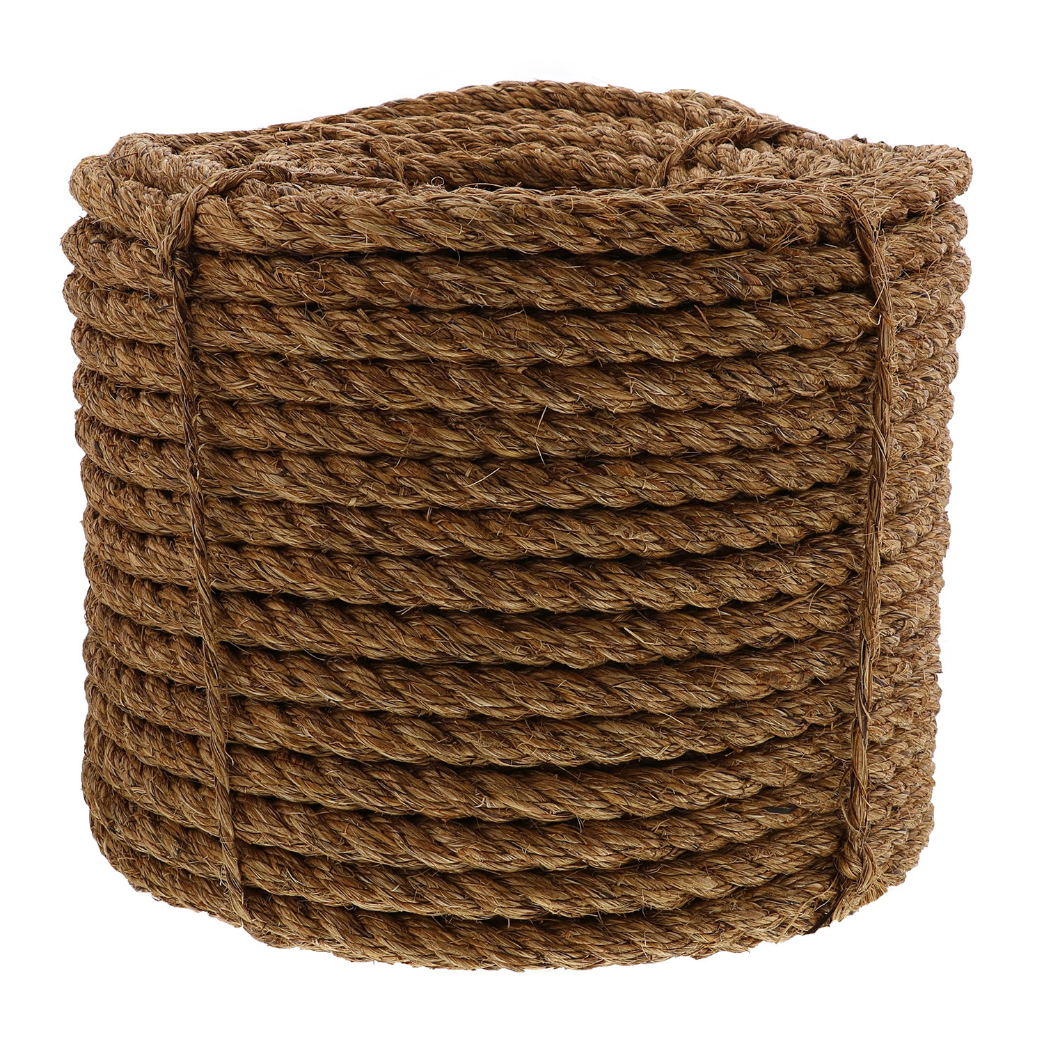 "3/4"" x 600' Coil, 3-Strand Manila Rope Image 1"