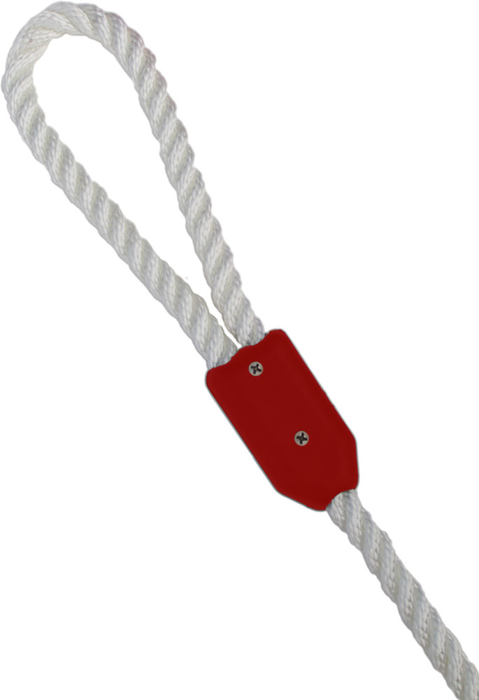 "3/16"" Red Rope Clamp Image 1"