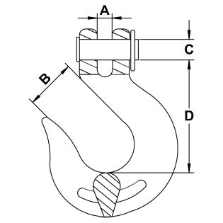 five-sixteenths-inch-Grade-70-Clevis-Slip-Hook-specification-diagram