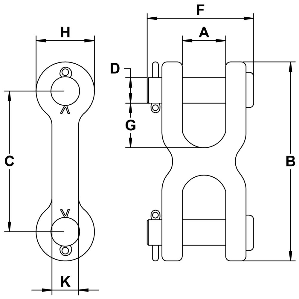 three-eighths-inch-Grade-70-Twin-Clevis-Link-specification-diagram
