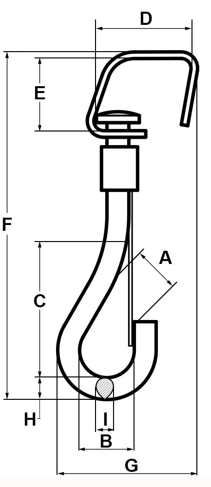 3-8-Eye-Open-End-Spring-Snap-Nickel-Finish-specification-diagram