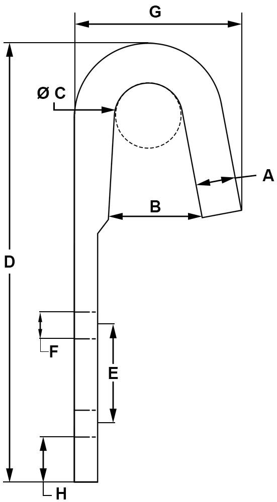 3-1-2-Zinc-Plated-Rope-Binding-Hook-specification-diagram