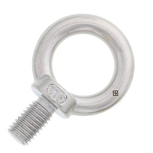 "3/8"" x 11/16""  Machinery Eye Bolt, Stainless Steel"