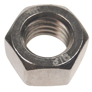 "1/2"" - 13 TPI,  Stainless Steel Hex Nut, Right Hand Threads"