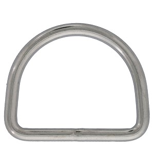 "3/16"" x 1-9/16"" Stainless Steel D Ring"