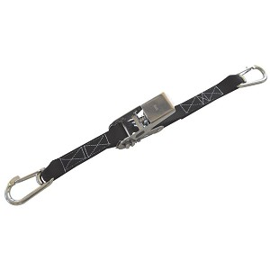 "1"" x 5' Stainless Steel Ratchet Strap with Spring Clip"