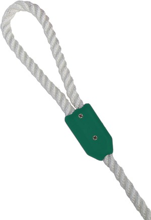 "3/4"" Green Rope Clamp"