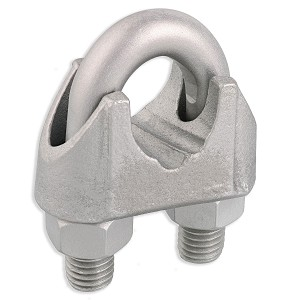 "1"" Zinc Plated Malleable Wire Rope Clip"