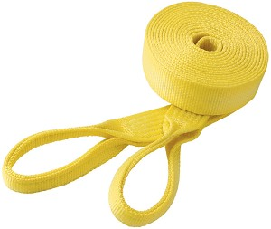 "3"" x 25' Tow Strap with Eye Loops - WLL: 7800 lbs"