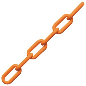 "1/4"" x 200' Peerless Orange Plastic Polypropylene Chain, Pail"