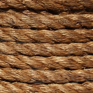 "1/2"" x 600' Coil, 3-Strand Manila Rope Image 2"