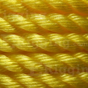 "1/4"" x 600' Reel, Yellow, 3-Strand Polypropylene Rope Image 2"