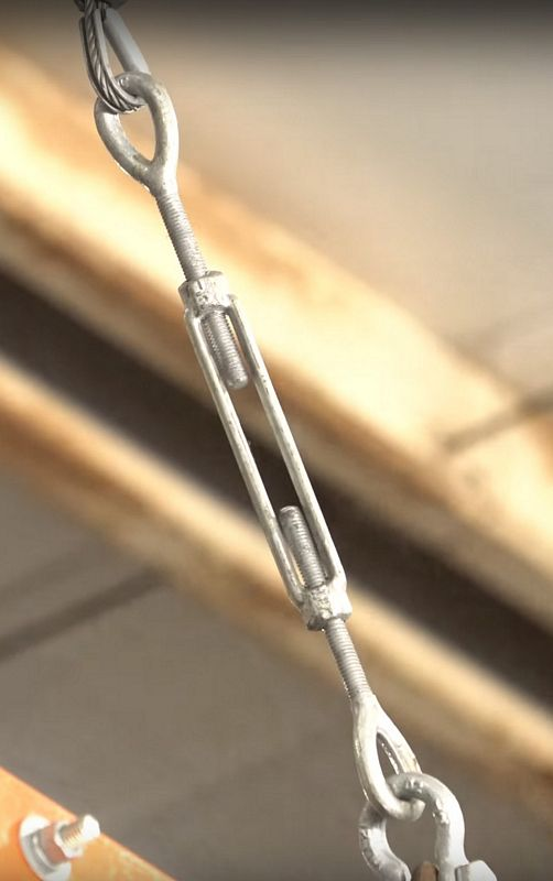 1//2 Inch x 6 Inches Galvanized Hook and Eye Turnbuckles by US Cargo Control