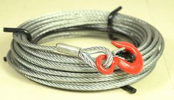 Tyler Tool Manual Cable Winch: 65ft Cable with Drop Forged Hook