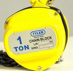 Tyler Tool Chain Hoists: Powder Coated, Formed Steel Outer Plates