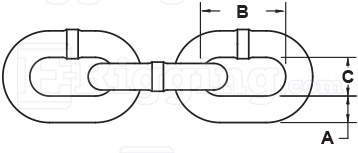 three-eighths-inch-Stainless-Chain-specification-diagram