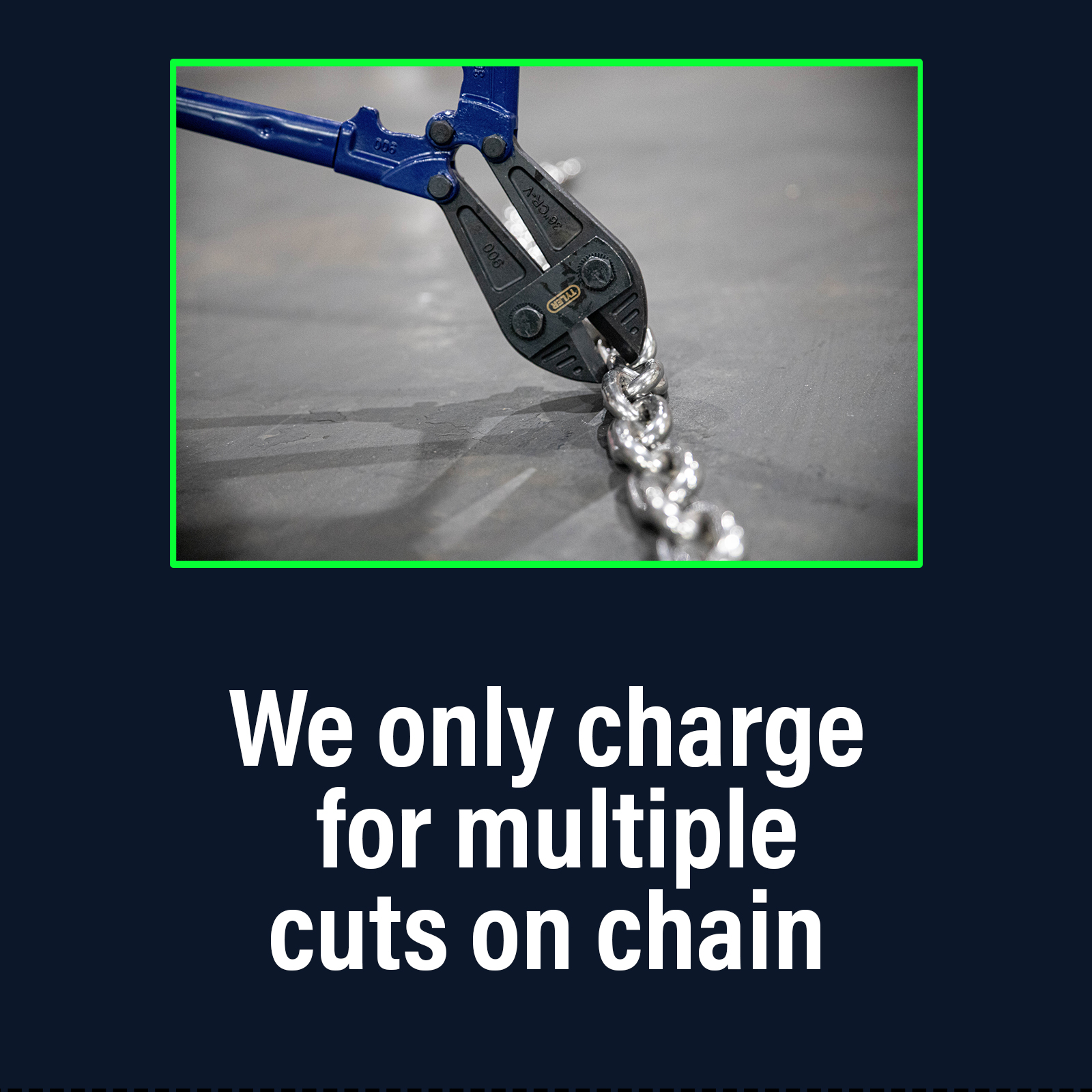 Cut Charge for Chain