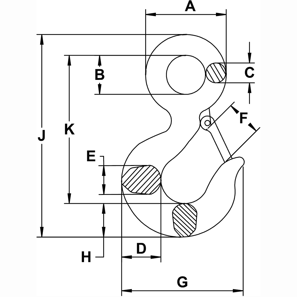 2-ton-Eye-Hoist-Hook-specification-diagram