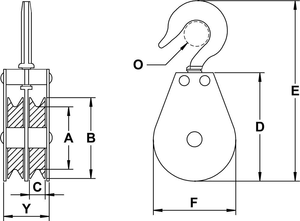 double-sheave-three-eigths-inch-hd-swivel-hook-block-specification-diagram
