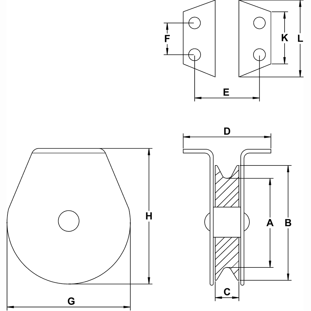 quarter-inch-flat-mount-block-specification-diagram