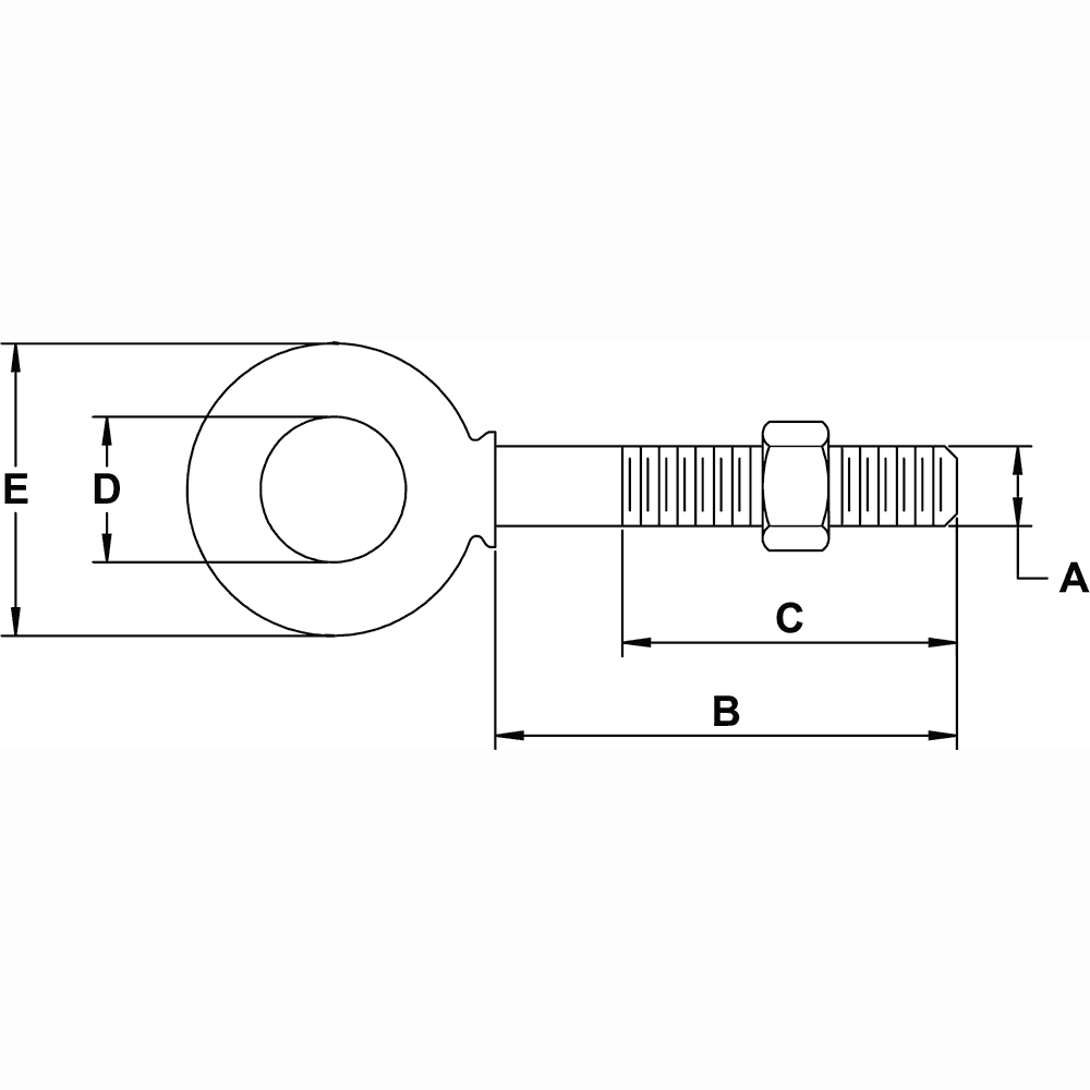 five-sixteenths-inch-X-2-quarter-inch-Shoulder-Eyebolt-specification-diagram