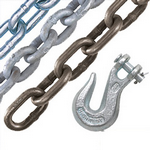 image of rigging chain and grab hook