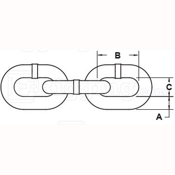 one-fourth-inch-x-141-foot-Grade-30-Zinc-plated-chain-specification-diagram