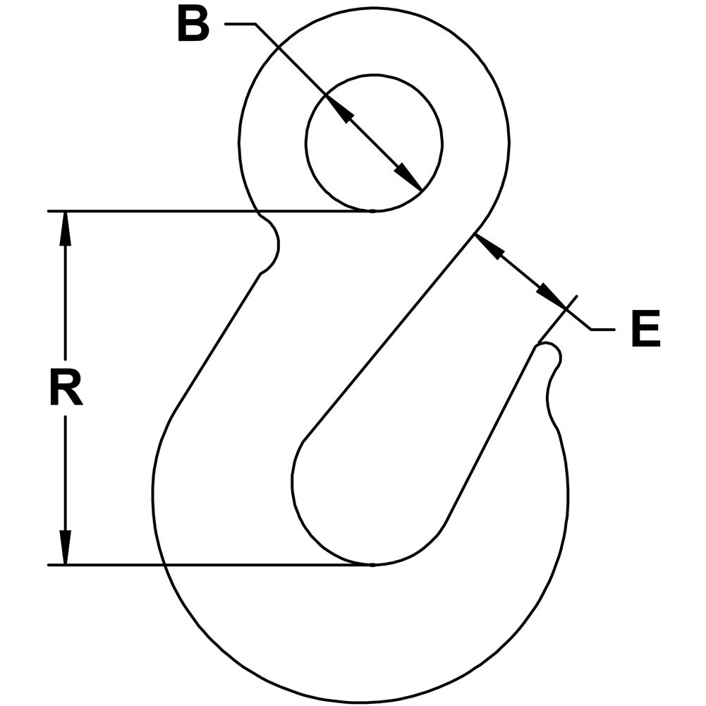 quarter-inch-stainless-slip-hook-specification-diagram