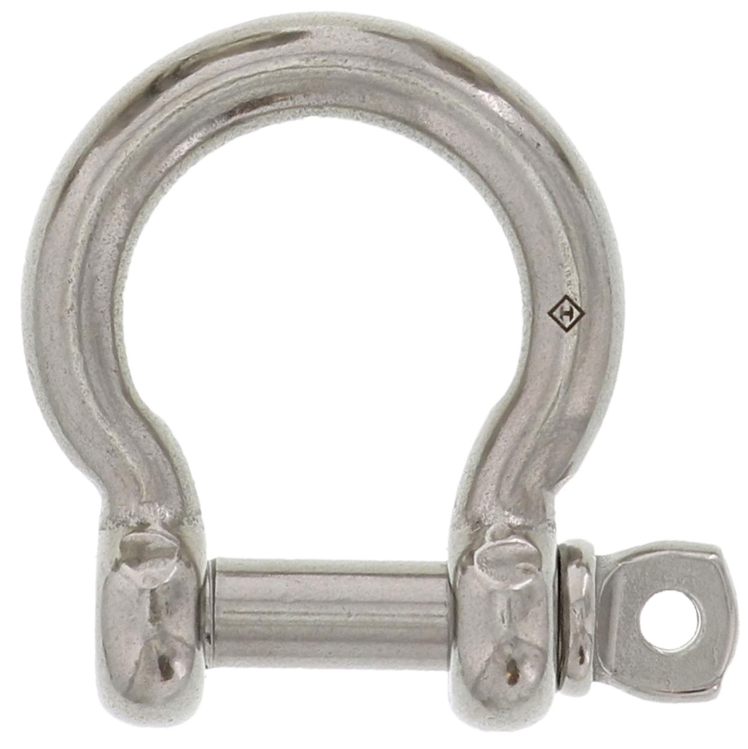"1/2"" Stainless Steel Screw Pin Bow Shackle Image 1"