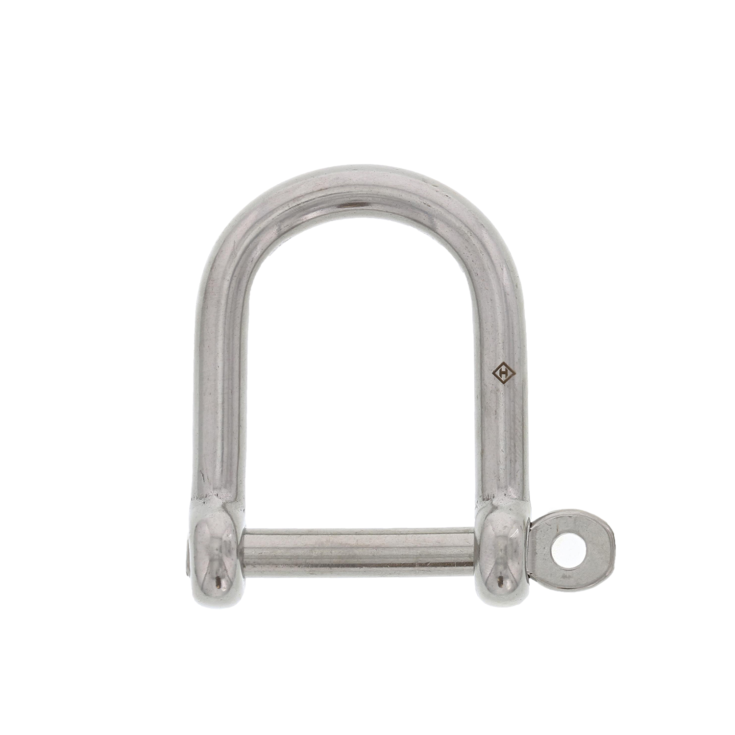 "5/16"" Stainless Steel Screw Pin Wide D Shackle Image 1"