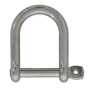 Stainless Screw Pin Wide D Shackles