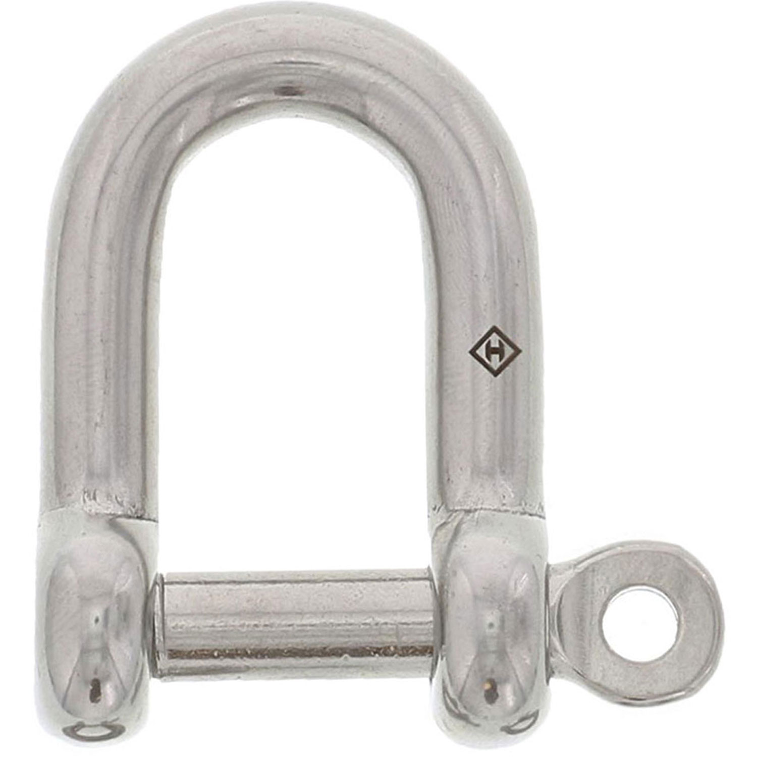 "3/8"" Stainless Steel Captive Pin D Shackle Image 1"