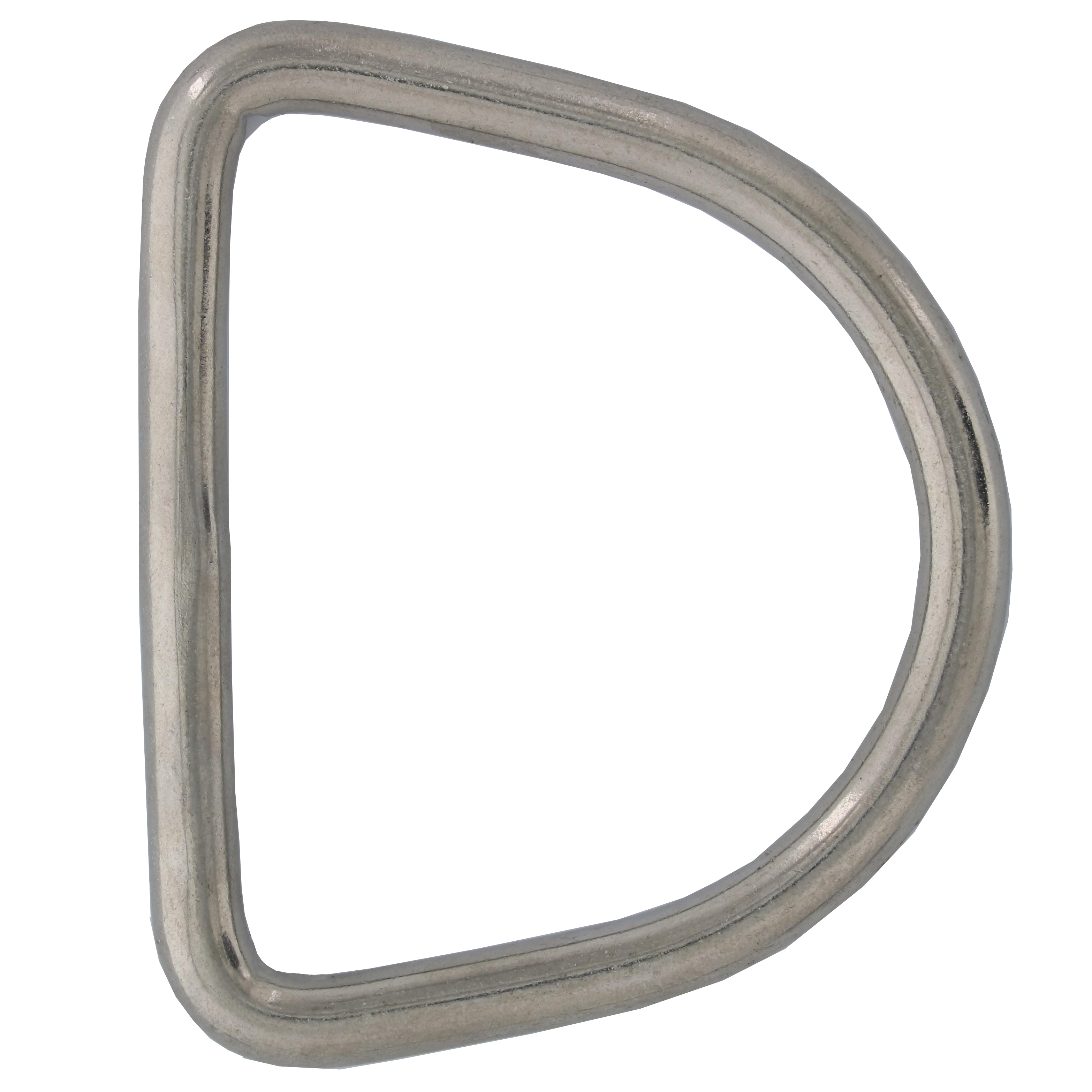 "5/16"" x 2-3/4"" Stainless Steel D Ring Image 1"